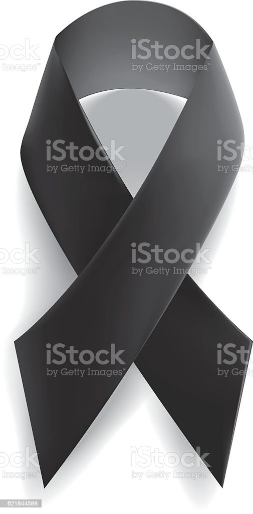 Realistic ribbon, isolated on white. Vector illustration. vector art illustration