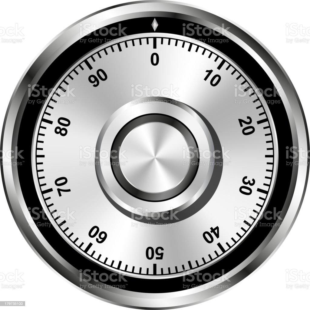 Realistic safe combination lock wheel royalty-free stock vector art