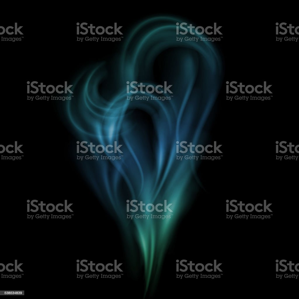 Realistic smoke vector art illustration