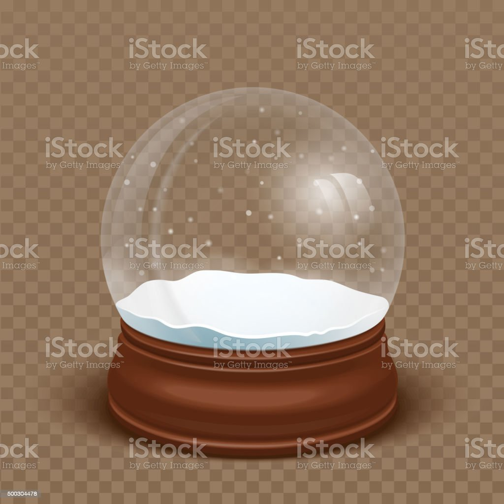 Realistic Snow globe. Vector illustration vector art illustration