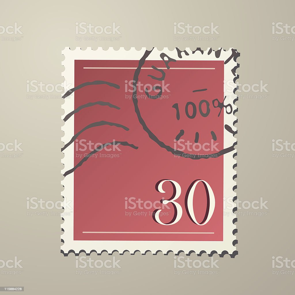 Realistic Stamp royalty-free stock vector art