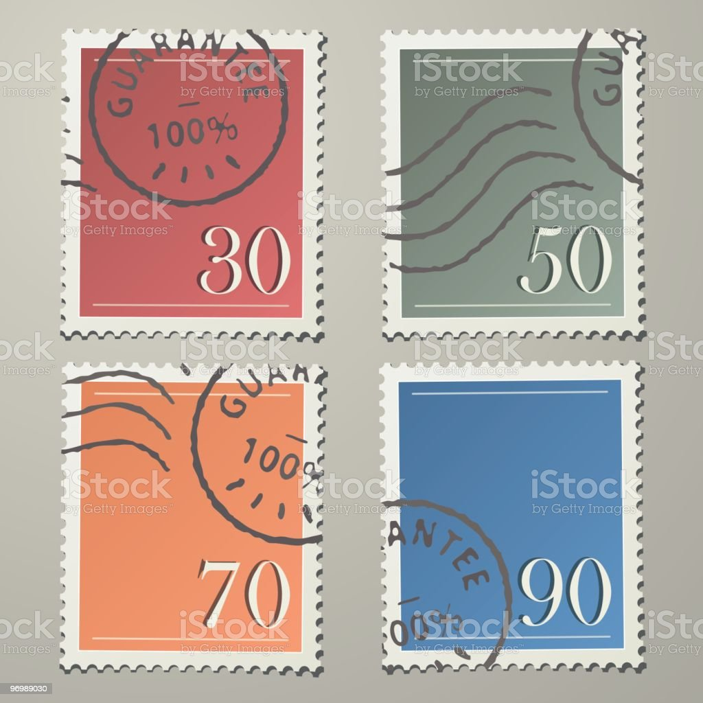 Realistic Stamps vector art illustration