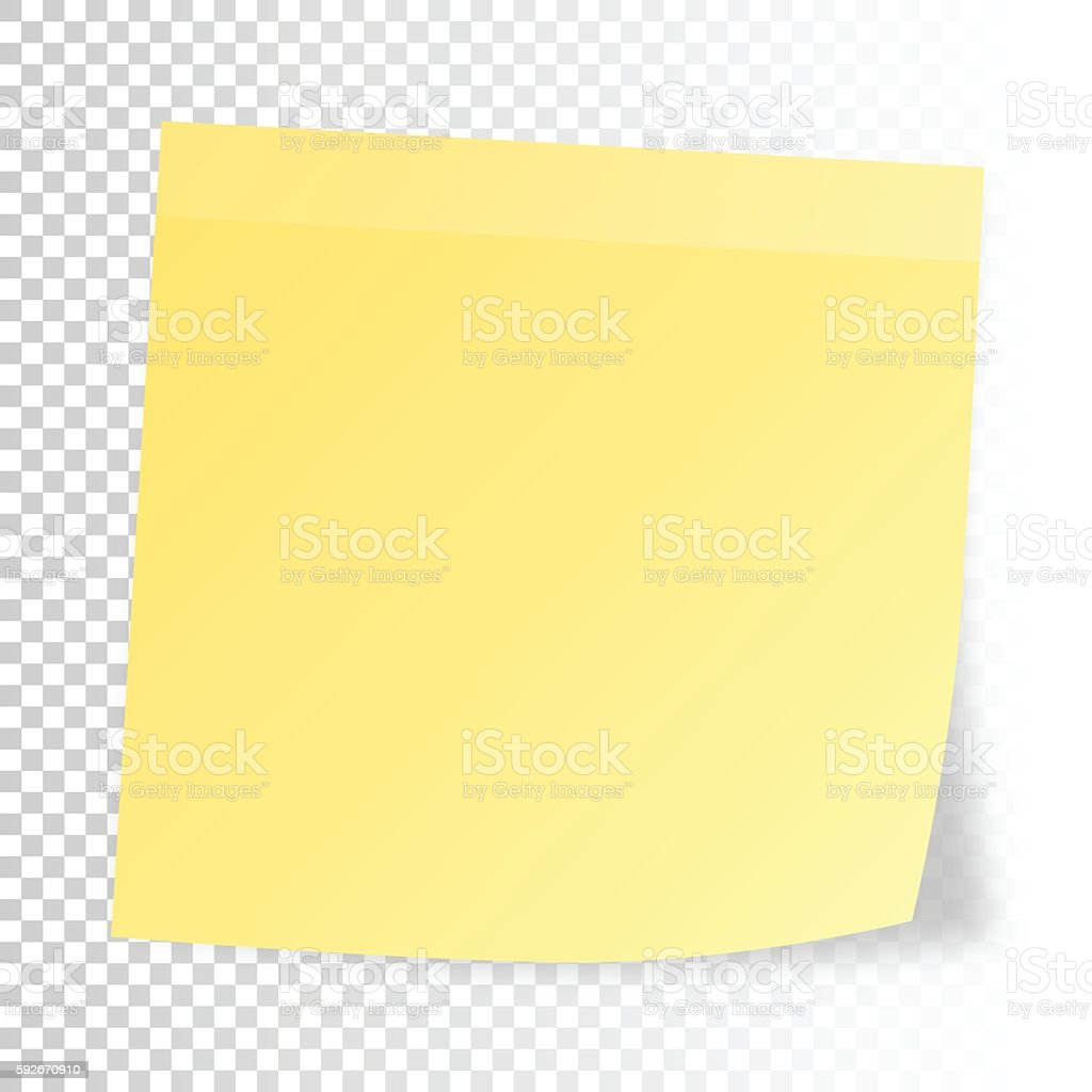 Realistic sticky note  isolated on blank background vector art illustration