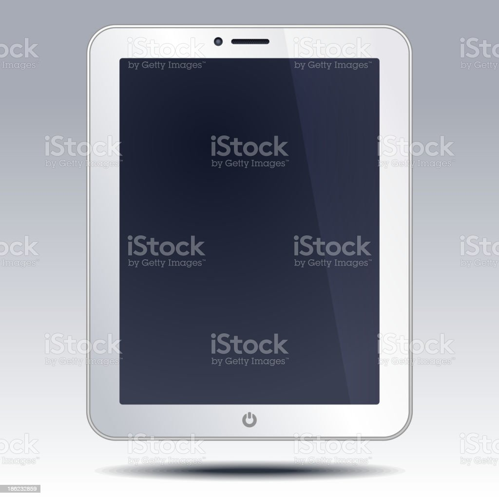 Realistic tablet pc computer royalty-free stock vector art