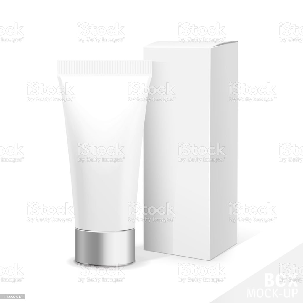 Realistic Tubes And Package vector art illustration