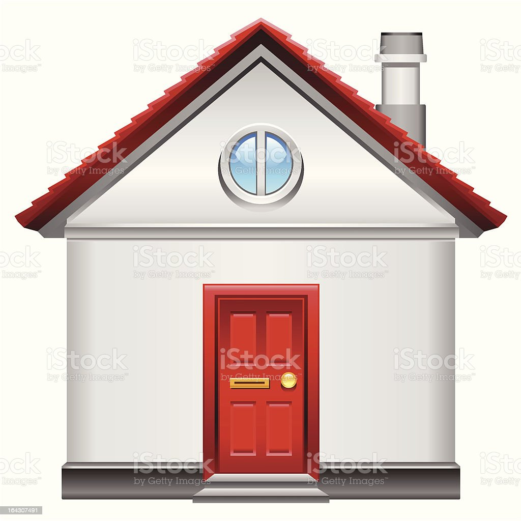 realistic vector home icon royalty-free stock vector art