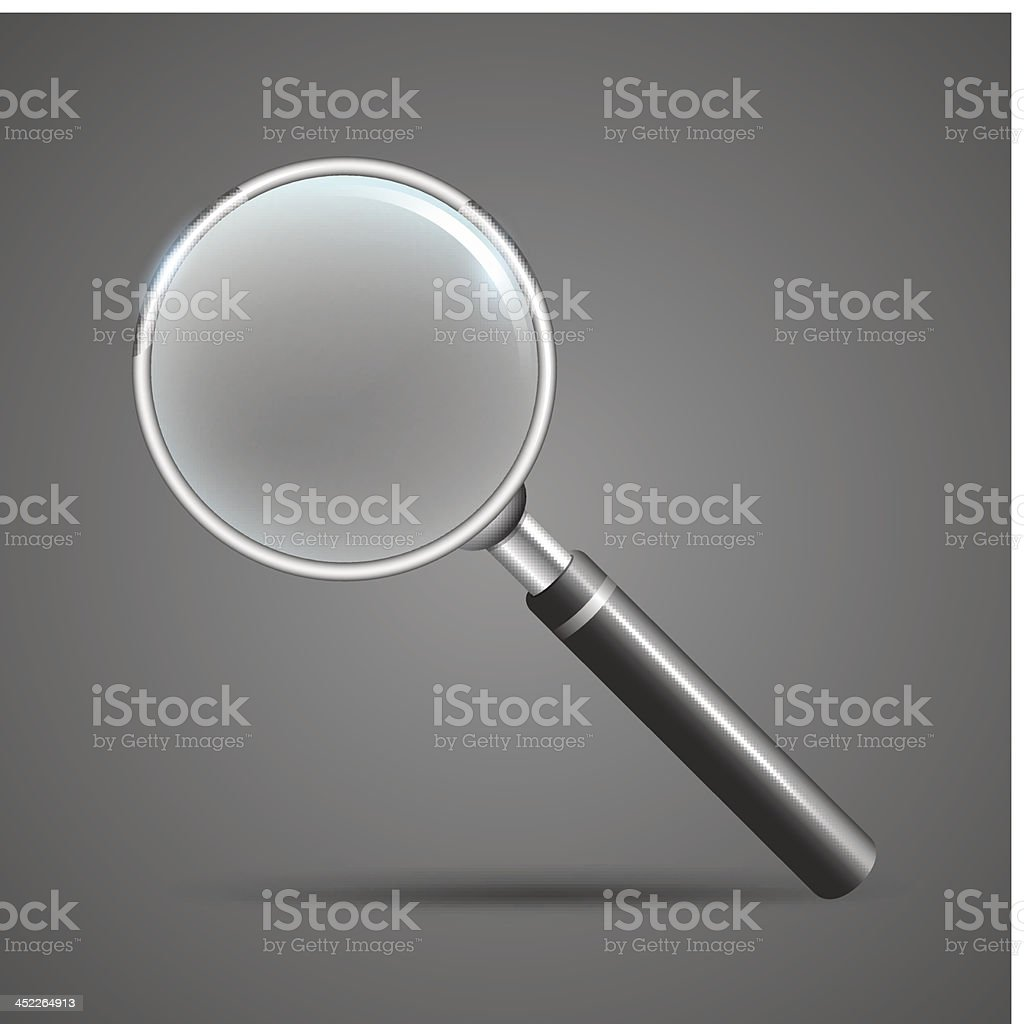 Realistic vector magnifying glass royalty-free stock vector art