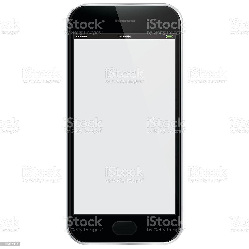 Realistic Vector Mobile Phone - Black vector art illustration