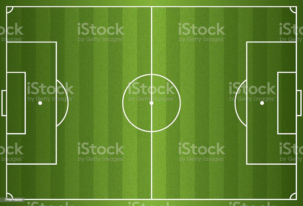 Realistic vector of a football or soccer field vector art illustration