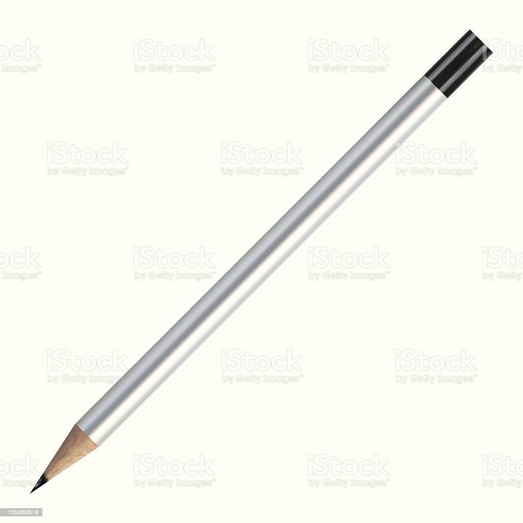 Realistic Vector Pencil royalty-free stock vector art