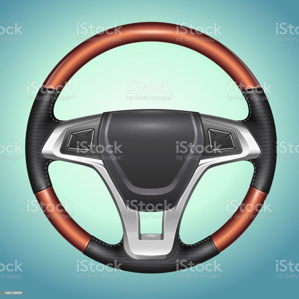 Realistic Vector Steering Wheel vector art illustration