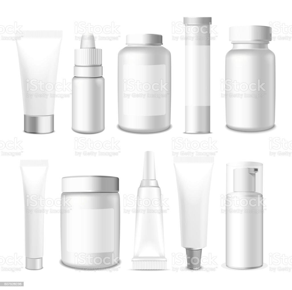 Realistic Vector Tubes and Jar vector art illustration