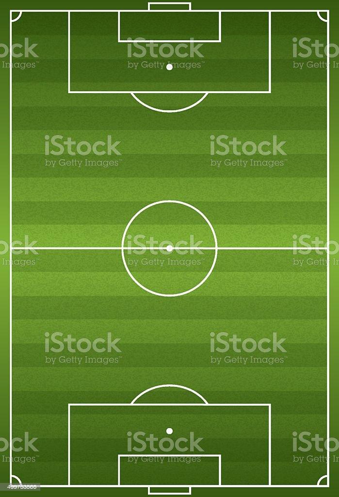 Realistic Vertical Football - Soccer Field Illustration vector art illustration