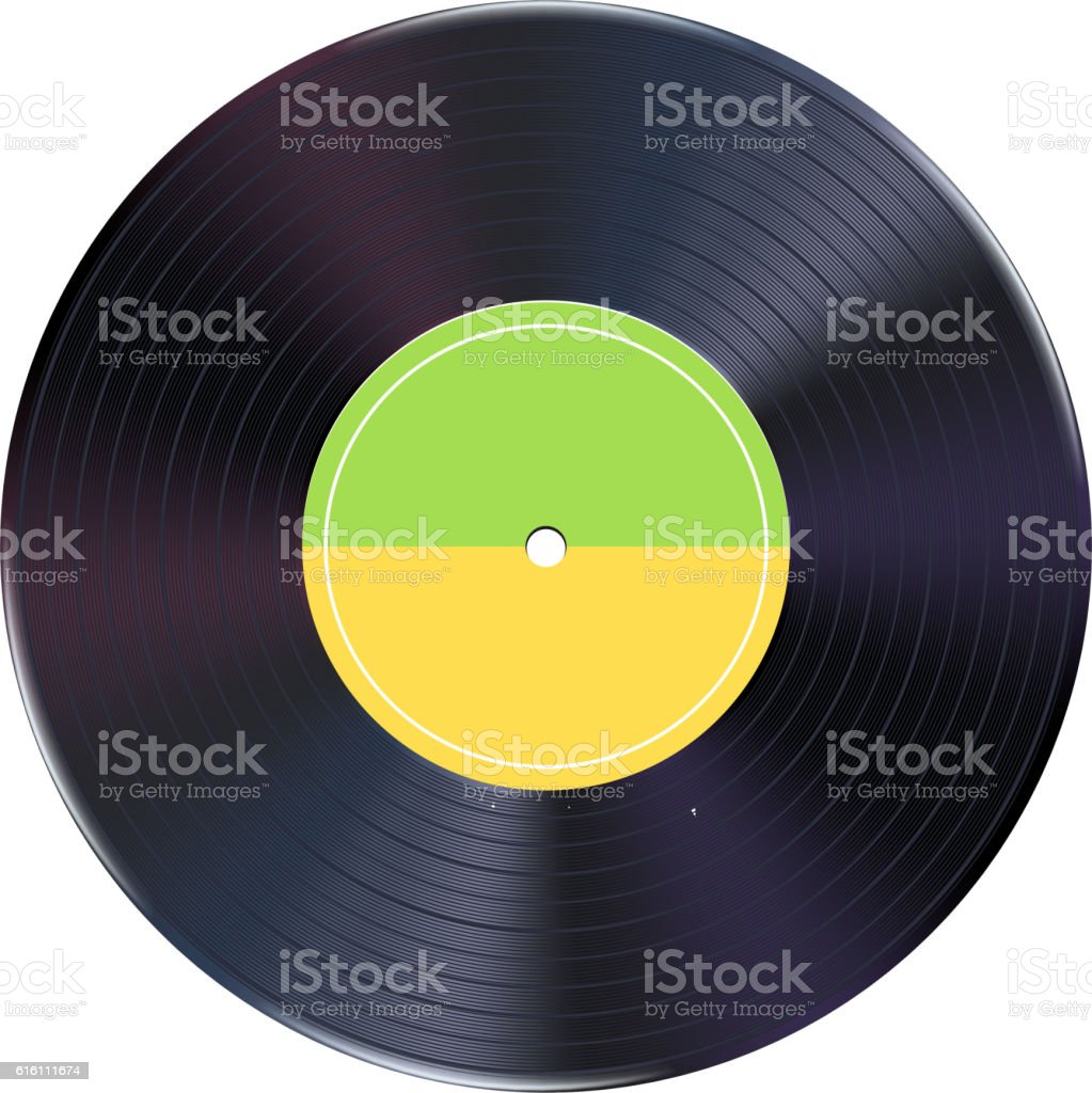realistic vinyl record 01 vector art illustration