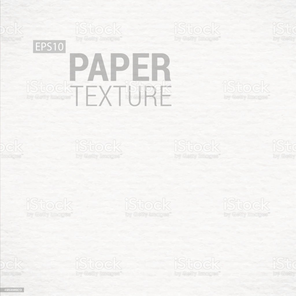 Realistic White Paper Background Texture vector art illustration