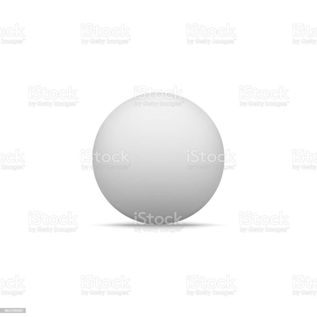 Realistic white Paper Ball Shape with Shadow vector art illustration