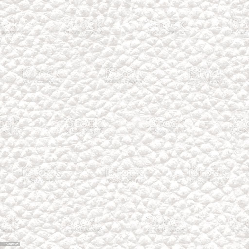 Realistic White Seamless Leather Background Texture - Illustration vector art illustration