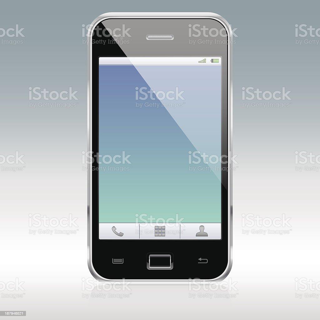 Realistic_Smartphone royalty-free stock vector art