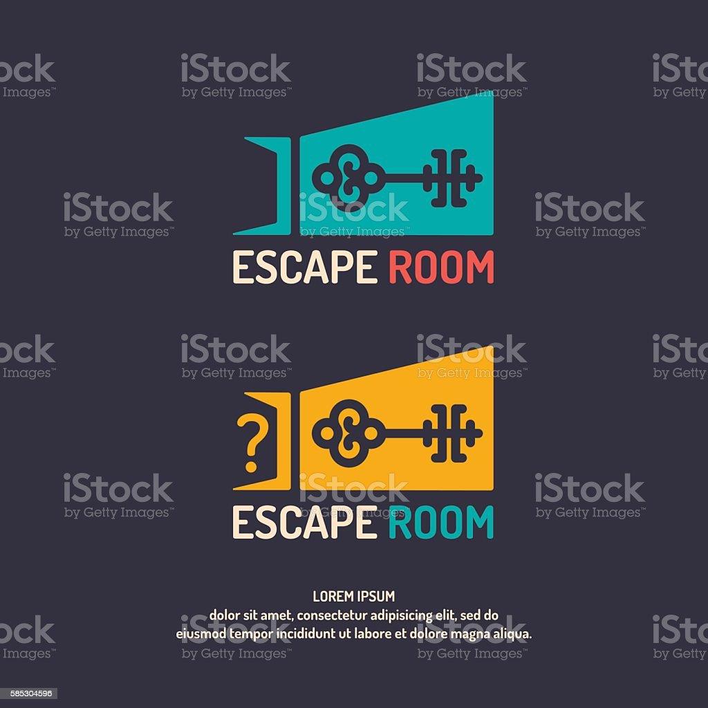 Real-life room escape. vector art illustration