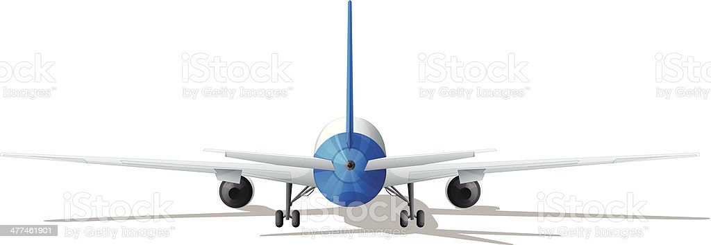 Rear plane royalty-free stock vector art