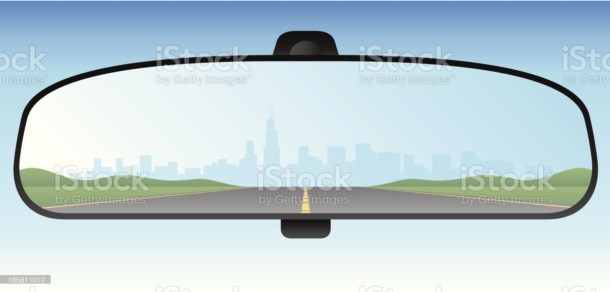 Rear View Mirror royalty-free stock vector art