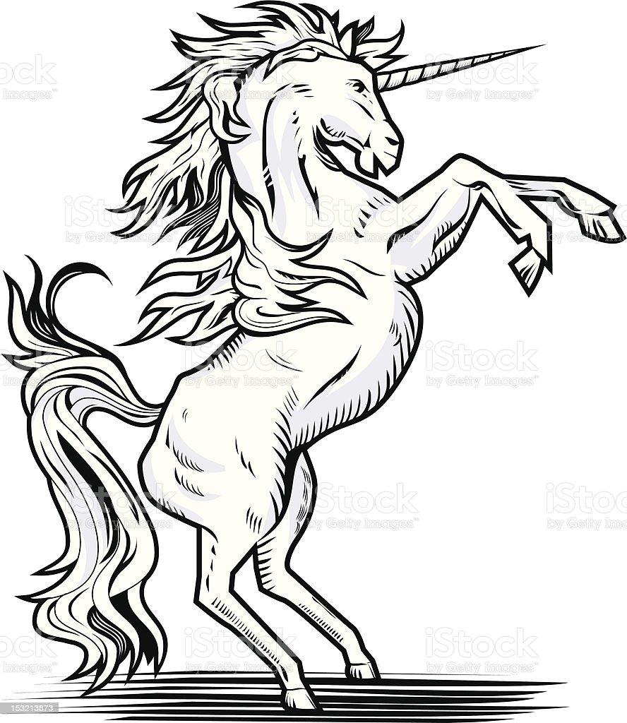 Rearing Unicorn royalty-free stock vector art