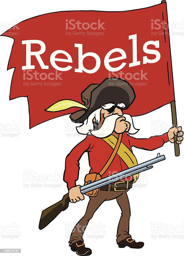 Rebel vector art illustration