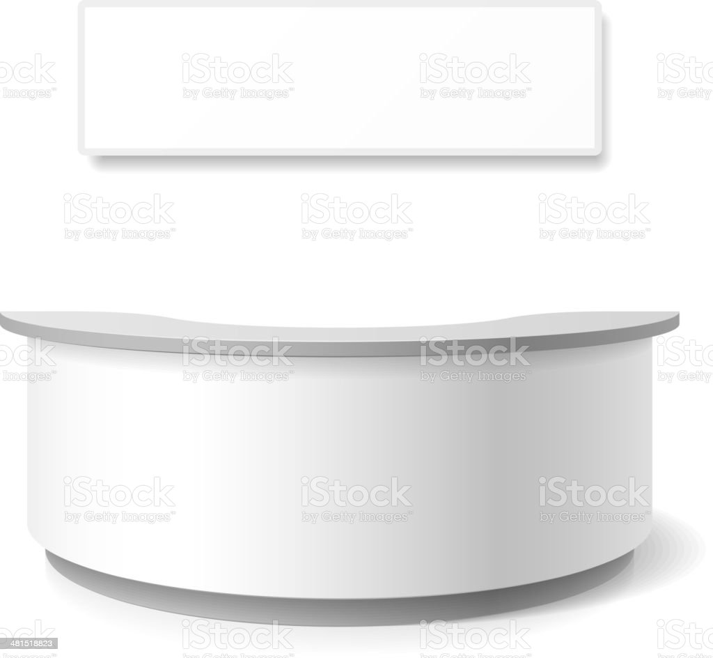 Reception, exhibition counter vector art illustration