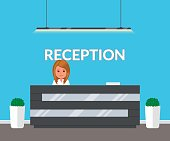 Reception in modern office.