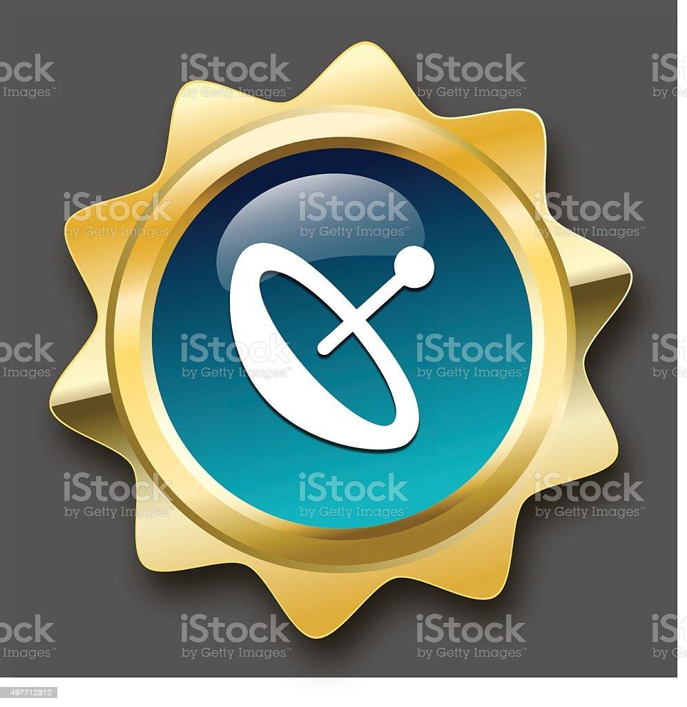 Reception seal or icon vector art illustration