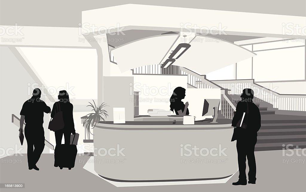Reception Vector Silhouette vector art illustration