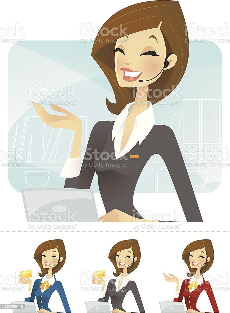 Receptionist Illustration royalty-free stock vector art