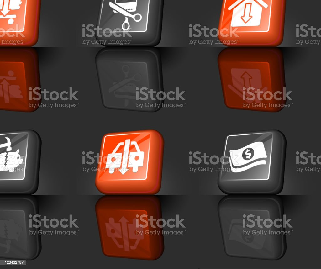 recession internet royalty free vector icon set royalty-free stock vector art