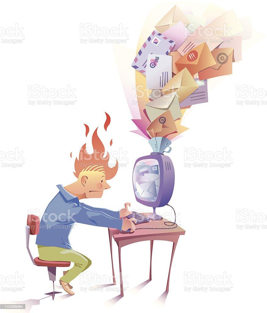 Recieving the spam vector art illustration