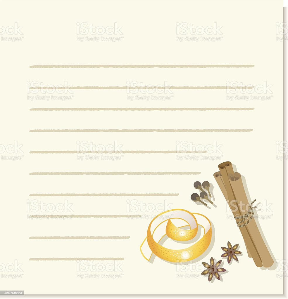 Recipe Background. vector art illustration