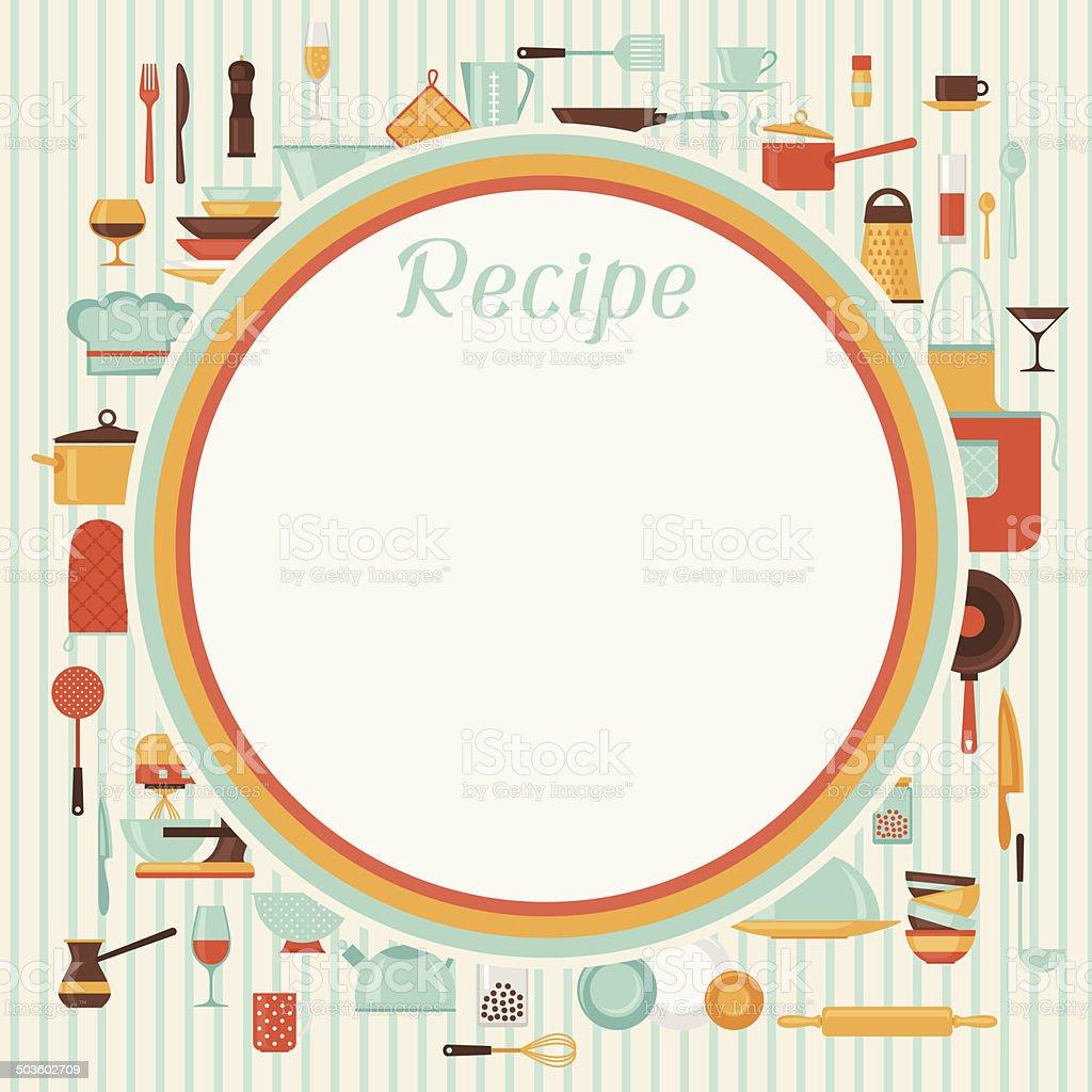 Receta fondo restaurante con cocina y utensilios for Utensilios de cocina fondo