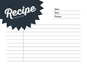 Recipe card with white background.