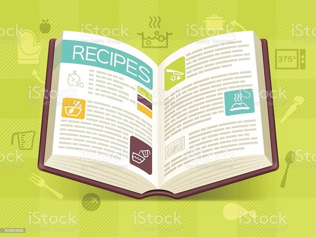 Recipe Cookbook vector art illustration