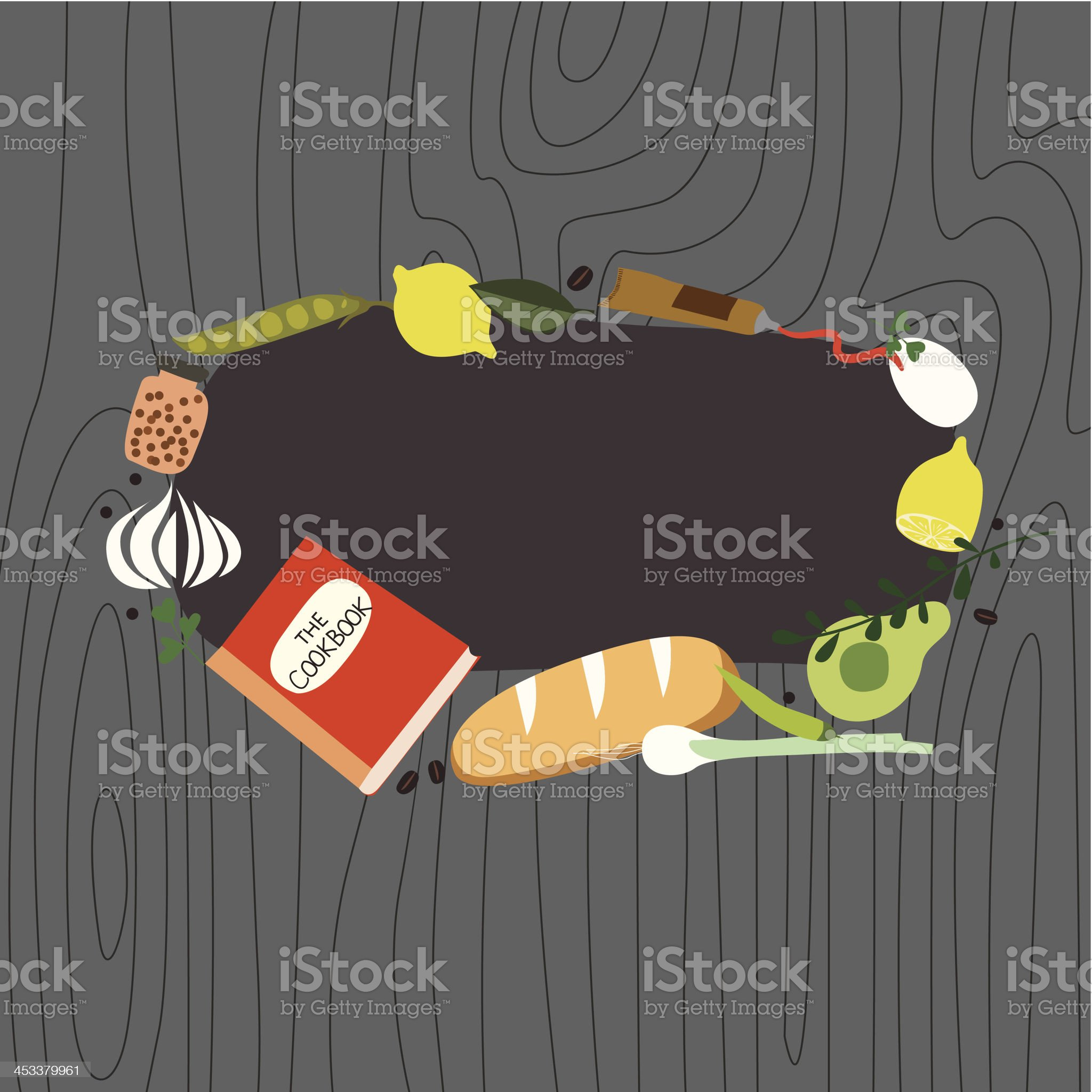 Recipe frame with cookbook royalty-free stock vector art