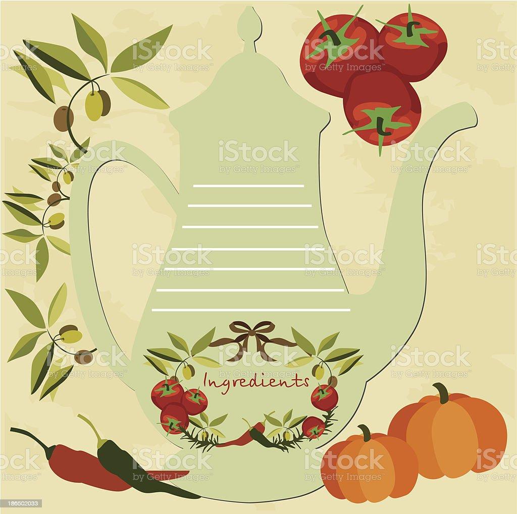 Recipes royalty-free stock vector art