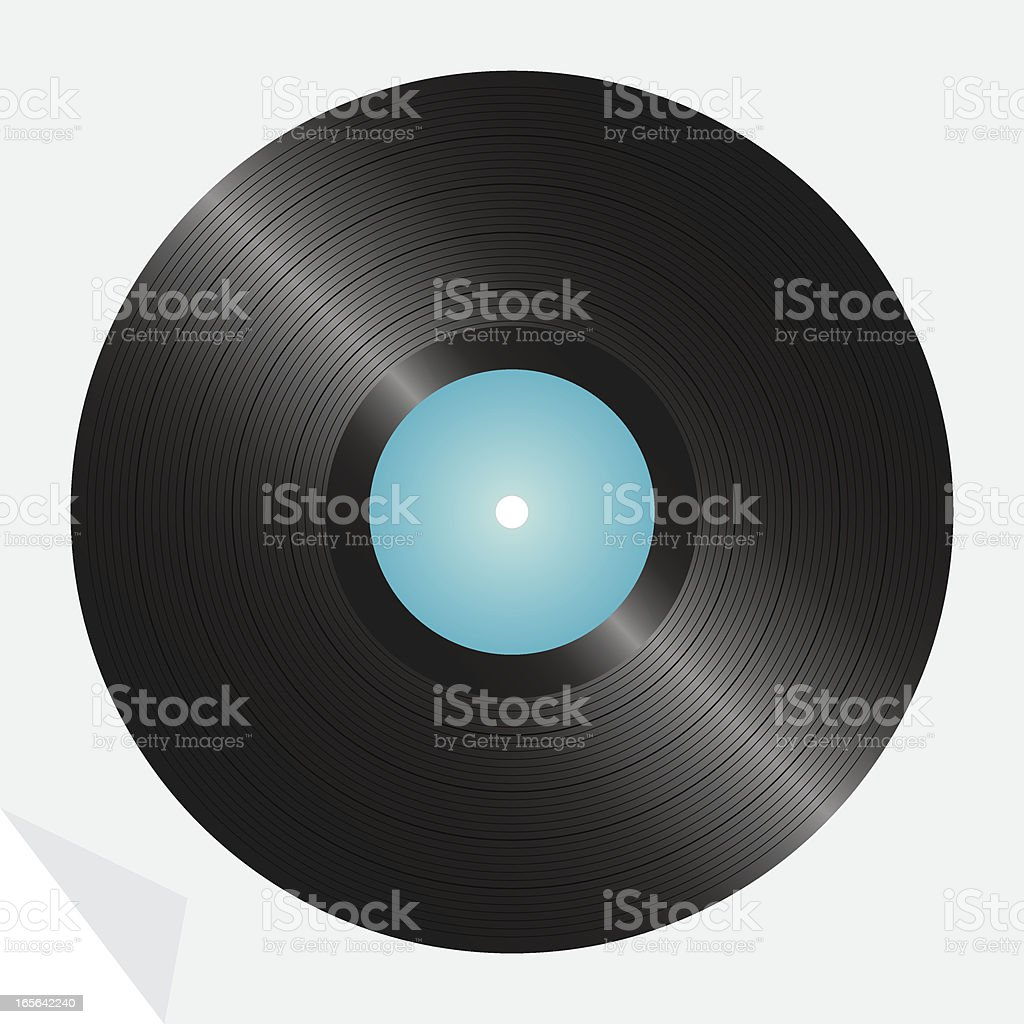 LP Record, detailed vector illustration (one credit) royalty-free stock vector art