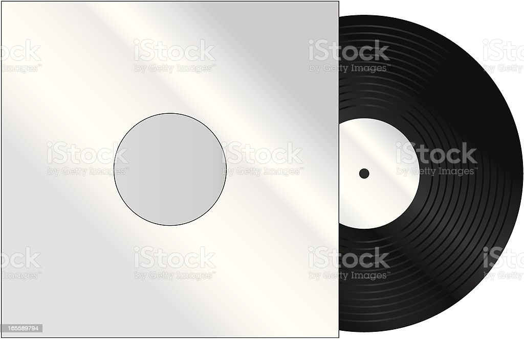Record in Sleeve vector art illustration