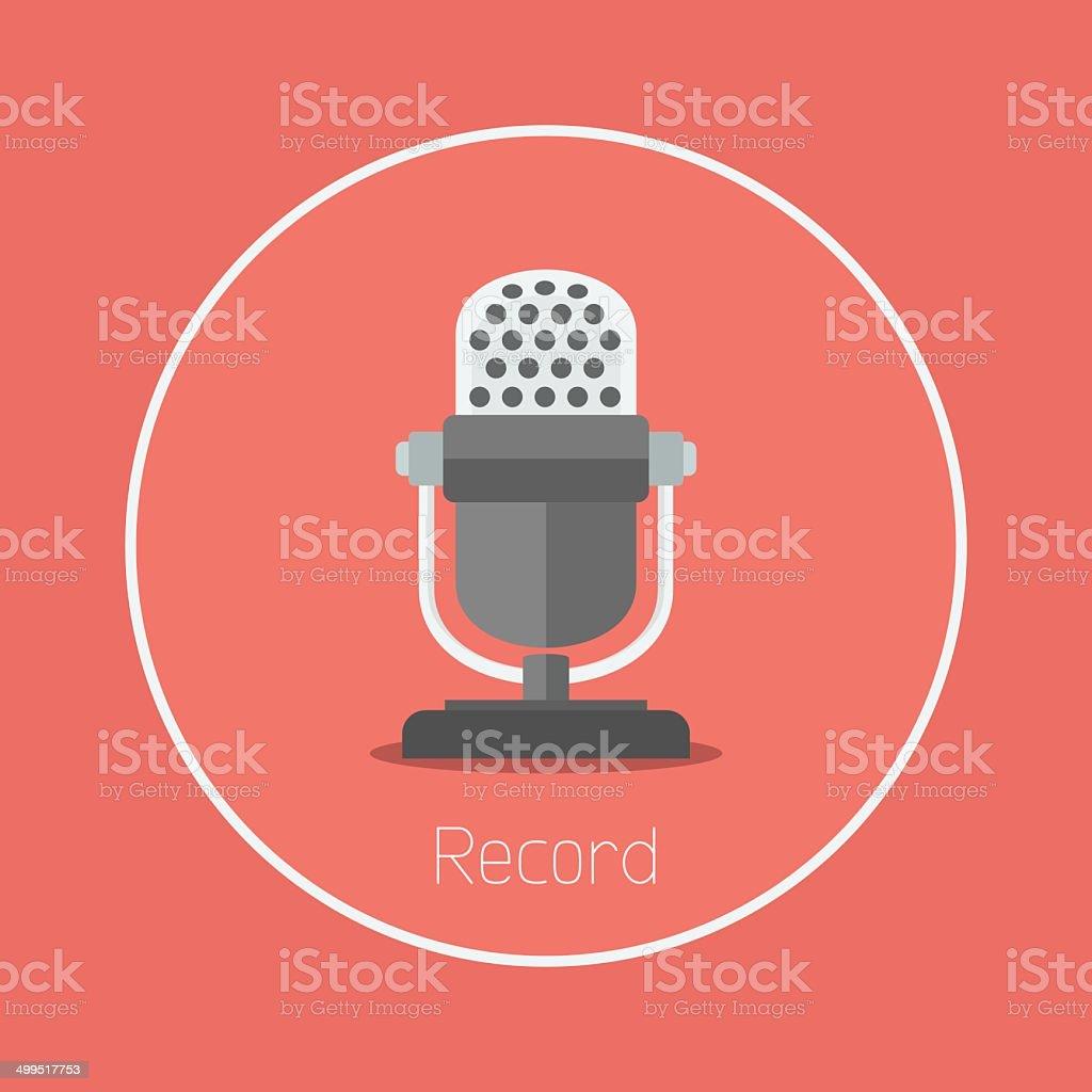 Record vector art illustration