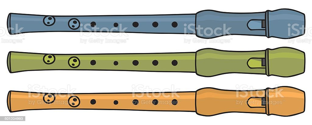recorders royalty-free stock vector art