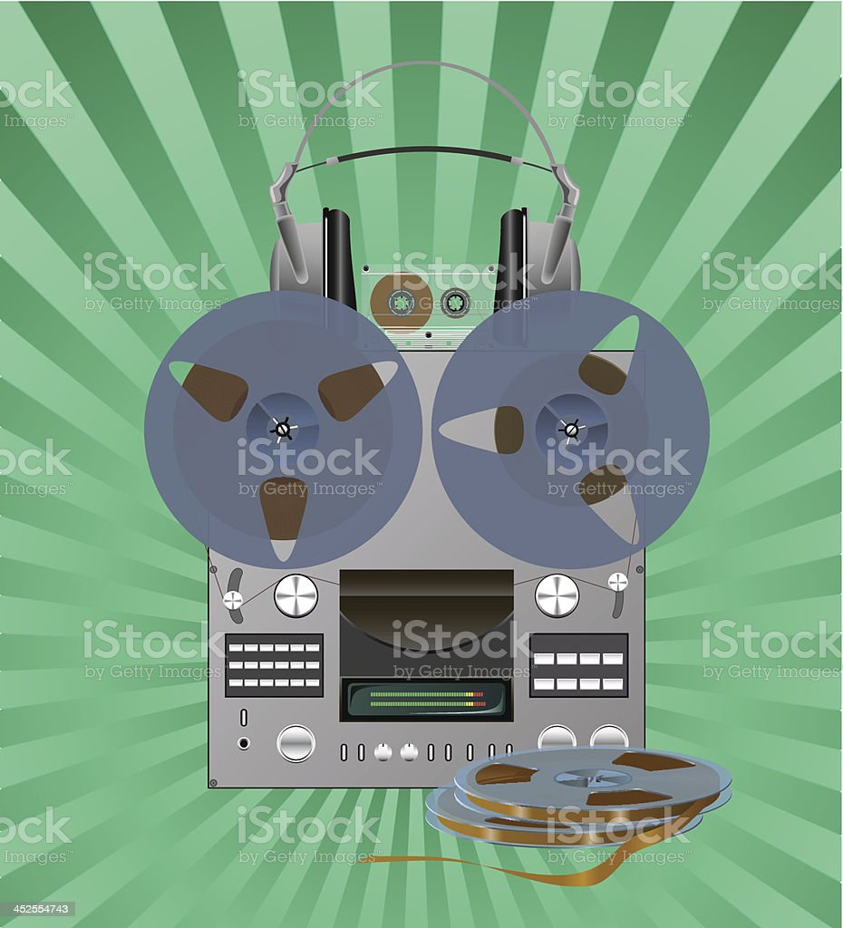Recording equipment. royalty-free stock vector art