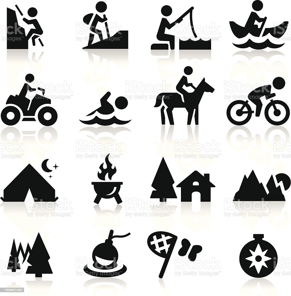 Recreation icons vector art illustration