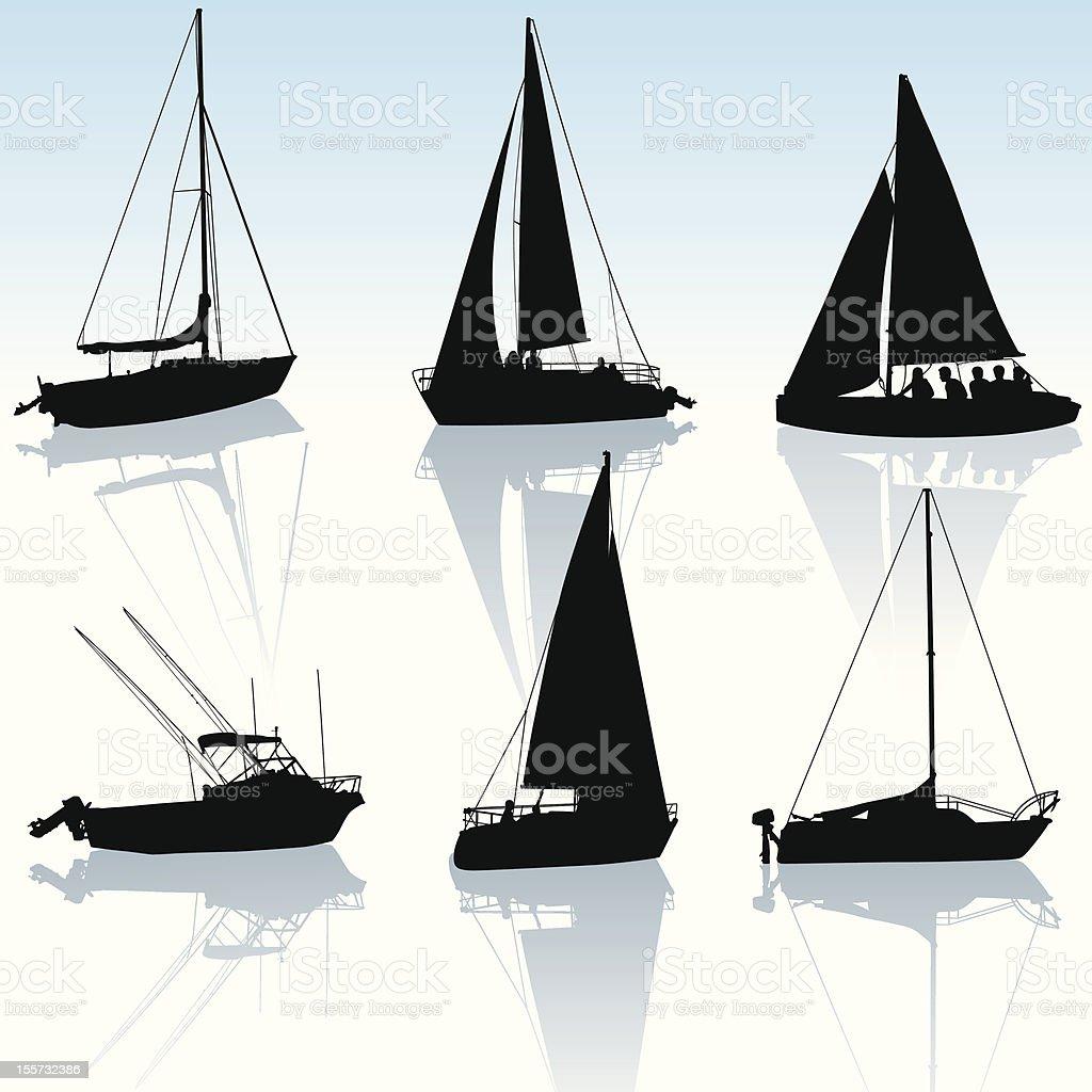 Recreational Boating vector art illustration