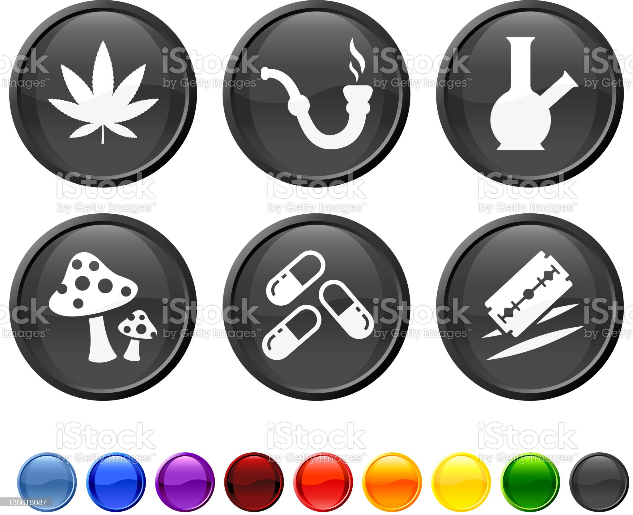 recreational drugs royalty free vector icon set royalty-free stock vector art