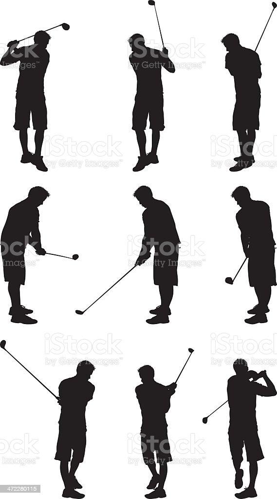 Recreational golf man golfing royalty-free stock vector art