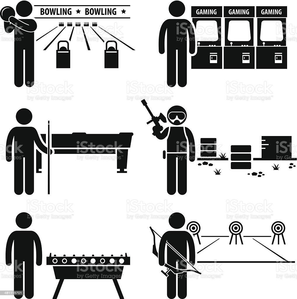 Recreational Leisure Games Clipart vector art illustration